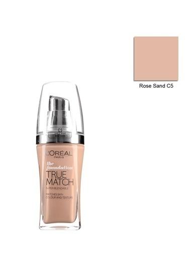 L'Oréal Paris True Match Fondoten C5 Sable Rose Sand Renkli